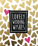 Wedding Card Deck Chair Wishes Hearts