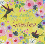 Grandmother Birthday Card Flora Pop Grandma