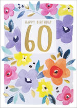 Birthday Age Card 60 Female Kirra Floral