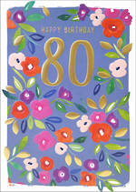 Birthday Age Card 80 Female Kirra Floral