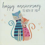 Anniversary Card Spotlight Cats