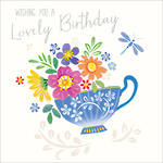 Spotlight Birthday Blue Teacup