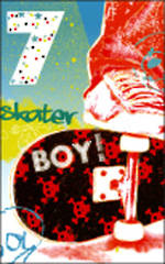 Age Card 7 Boy Celebration Skater