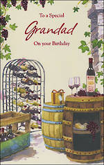 Grandad Birthday Card Grandad Wine Cellar