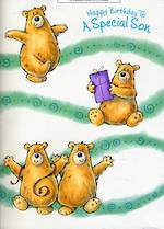 Son Birthday Card: Jumbo Bears
