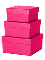 Medium Gift Box Nest 8 Cerise