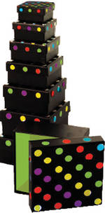Small Gift Box Nest 3 Spots Black