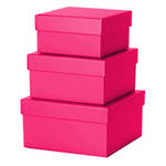 Small Gift Box Nest 3 Cerise