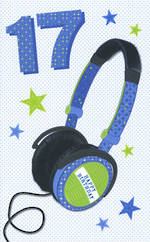 Age Card 17 Male Bingo Bango Headphones