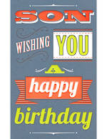 Son Birthday Card Talk the Type