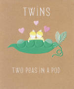 Baby Card Twins Pip & Me Peas