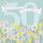 Age Card 50 Female Birthday Gorgeous