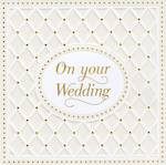 Wedding Card Pearl Quilted