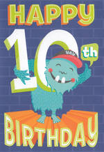 Age Card 10 Boy Bingo Bango Monster