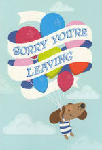 Sorry You're Leaving Card: Simson Balloons