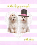 Wedding Card Happy Couple