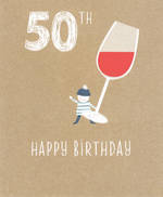 Age Card 50 Female Birthday Pip & Me Wine