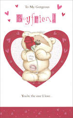 Boyfriend Birthday Card Teddy & Rose