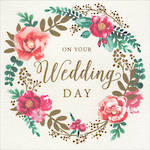 Wedding Card Floral Wreath
