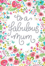 Mum Birthday Card Fabulous Pink Flowers