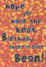 Humorous Birthday Card Roar Best Birthday Ever Bean