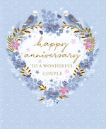 Anniversary Card Your Isabella Blue Wreath