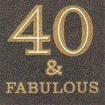 Birthday Age Card 40 Female Square Fabulous