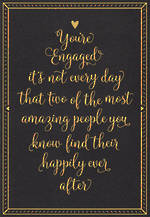 Engagement Card Gold Foil Text