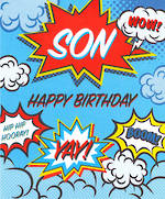 Son Birthday Card Comic Speech Bubble
