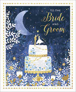 Wedding Card Wedding Bride And Groom Navy