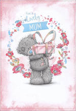 Mum Birthday Card Me To You Pink Wreath Tatty Teddy