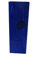 Bottle Gift Bag Solid Colour Blue