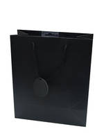 Large Gift Bag Solid Colour Black
