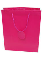 Large Gift Bag Solid Colour Cerise