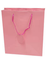 Large Gift Bag Solid Colour Pink