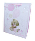 Large Gift Bag Baby Girl Teddy