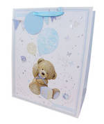 Large Gift Bag Baby Boy Teddy