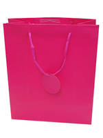 Medium Gift Bag Solid Colour Cerise