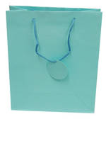 Medium Gift Bag Solid Colour Turquoise