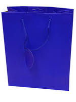 Medium Gift Bag Solid Colour Blue