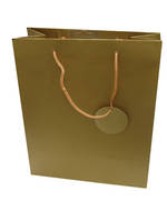 Medium Gift Bag Solid Colour Gold