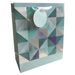 Medium Gift Bag General Foiled Geometric Pattern