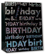Medium Gift Bag Male Birthday Foil