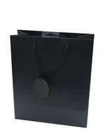 Small Gift Bag Solid Colour Black
