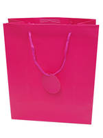 Small Gift Bag Solid Colour Cerise
