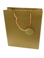 Small Gift Bag Solid Colour Gold