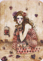 Santoro Eclectic Gorjuss Girl And Hearts