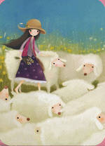 Santoro Eclectic Gorjuss Girl & Sheep