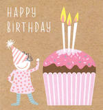 Mini Card Happy Birthday Cupcake