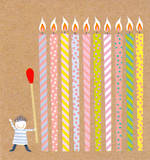 Mini Card Giant Candles
